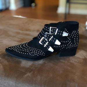 Qupid Black Studded Booties